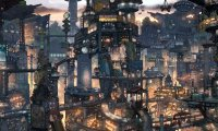 A dungeons and Dragons city with a bit more tech than normal